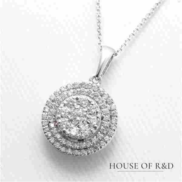 14k White Gold - 0.47tcw - Diamonds Pendant