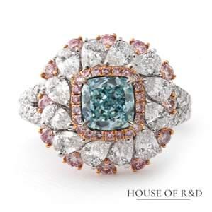 18k White Gold - 3.71tcw - Diamonds Ring