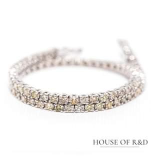 14k White Gold - 2.12tcw -  Diamonds Tennis Bracelet