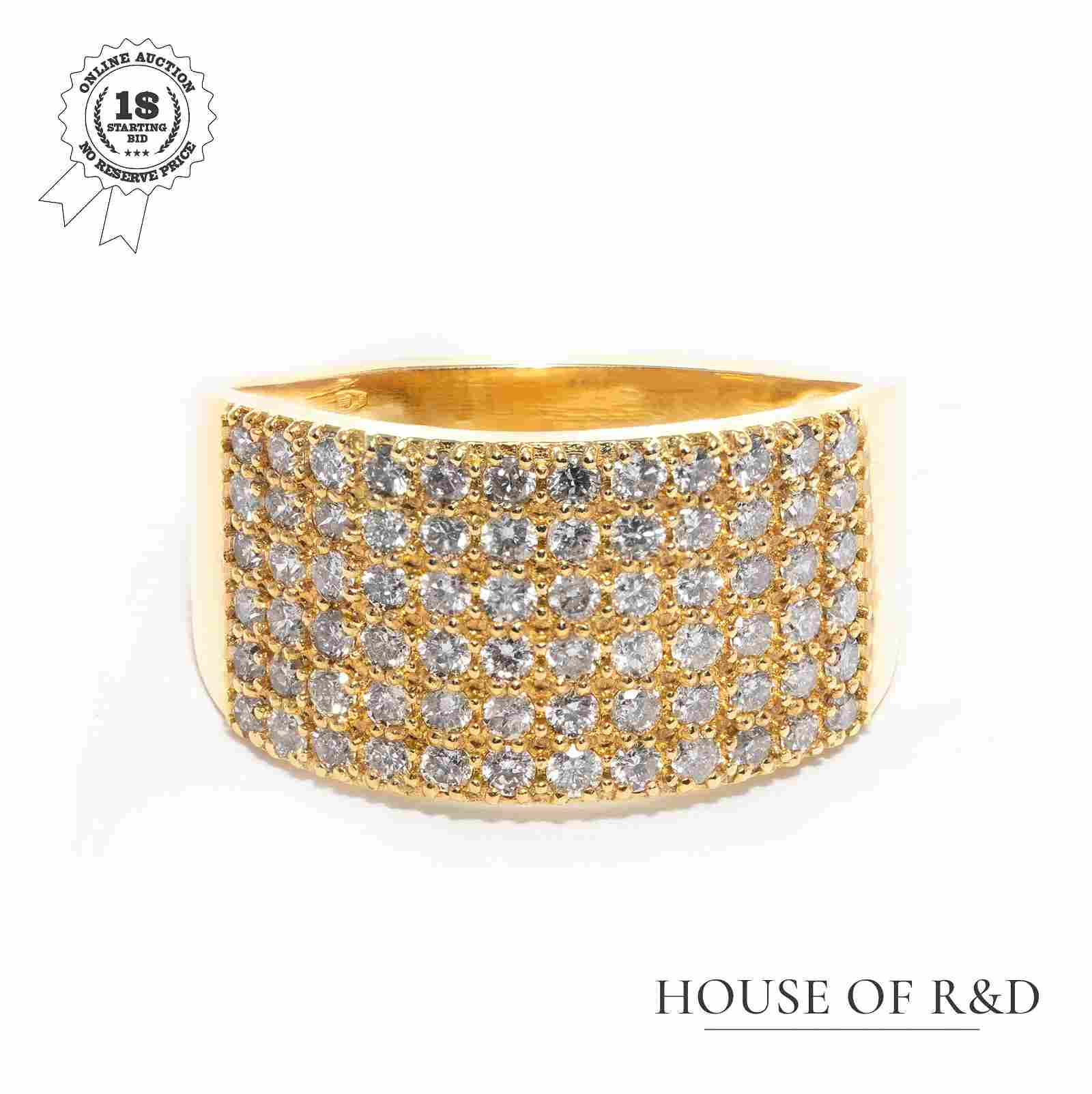 14k Yellow Gold -1.00tcw - Diamonds Ring