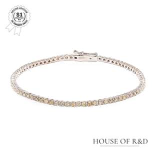 14k White Gold - 2.12tcw -  Diamond Tennis Bracelet