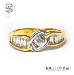 18k Yellow Gold & Platinum - 0.70tcw -  Diamond Ring