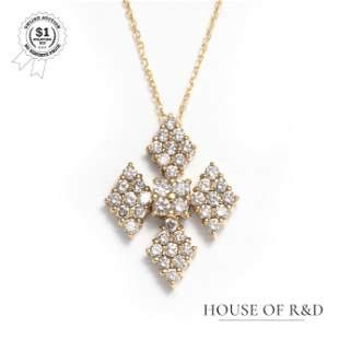 18k Yellow Gold - 1.00tcw -  Diamond Pendant