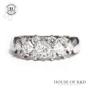 Platinum 900 - 0.90tcw - Diamond Ring