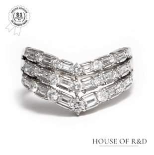 Platinum 900 - 0.65tcw - Diamond Ring