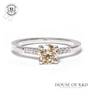 14k White Gold - 0.85tcw -  Diamond Ring