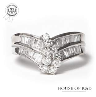 Platinum 900 - 1.09tcw - Diamond Ring