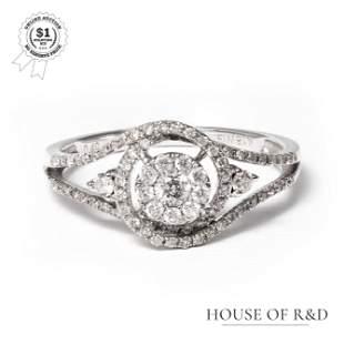 18k White Gold - 0.40tcw - Diamond Ring