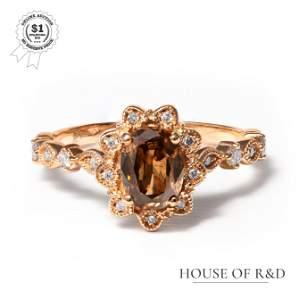 14k Rose Gold - 1.16tcw - Diamond Ring