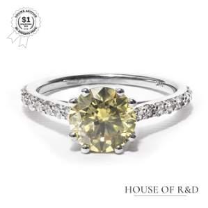 14k White Gold - 2.45tcw -  Diamond Ring