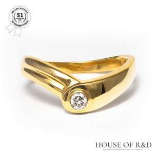18k Yellow Gold - 0.05tcw - Diamond Ring