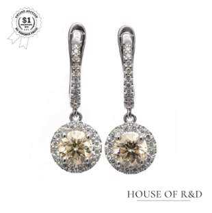 14k White Gold -  1.20tcw -  Diamond Earrings