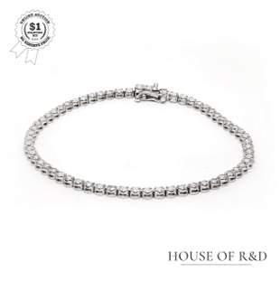 14k White Gold -  2.10tcw -  Diamond Tennis Bracelet