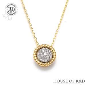 14k Yellow Gold - 0.09tcw - Diamond Pendant