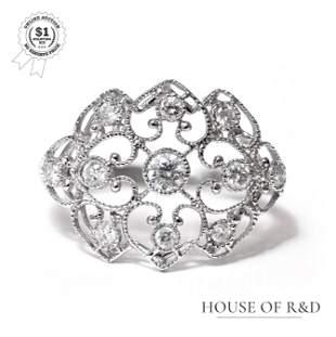 18k White Gold - 1.02tcw - Diamond Ring