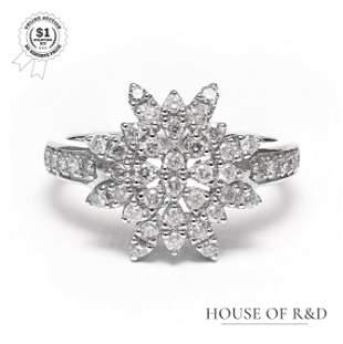 14k White Gold - 0.52tcw - Diamond Ring