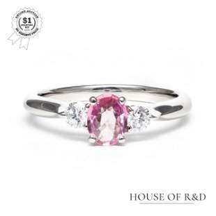 Platinum 900 - 0.77tcw - Sapphire & Diamond Ring