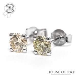 18&14k White Gold - 1.00tcw - Diamond Earrings
