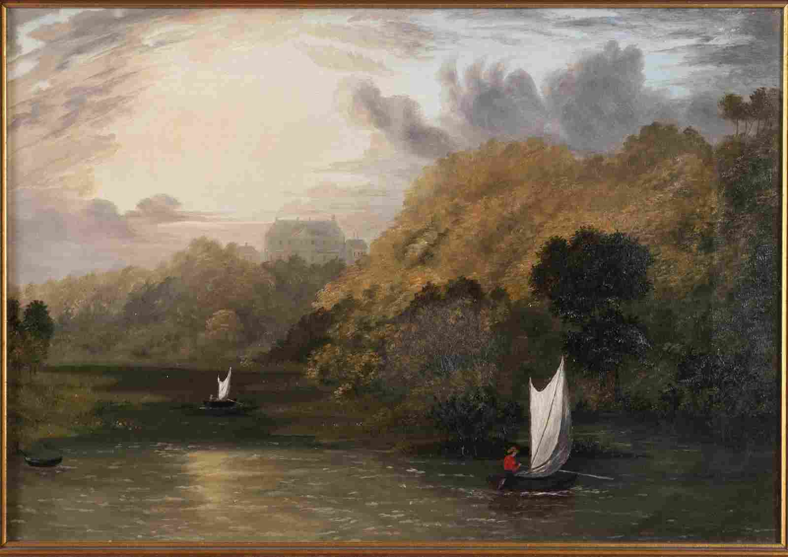 HUDSON RIVER VALLEY LANDSCAPE PAINTING (AMERICAN