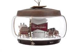 BUDWEISER CLYDESDALE CAROUSEL MOTION SIGN HANGING LIGHT