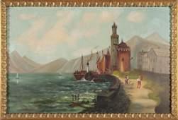 FOLK ART SEASCAPE