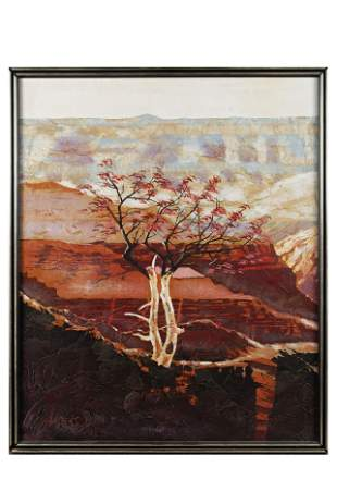 CANYON LANDSCAPE OIL PAINTING