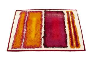 ABSTRACTIONS STIRK HALL RUG BY JOHN FREEMAN