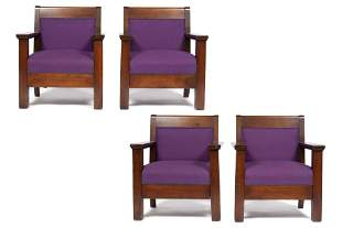 SET OF FOUR THEATER THRONE CHAIRS