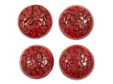 SET OF LARGE DIVISION I CHINESE CINNABAR BUTTONS