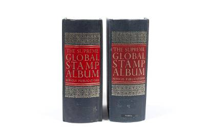 TWO OF THE SUPREME GLOBAL STAMP ALBUM