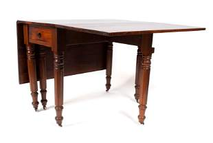 WILLIAM IV STYLE DROP LEAF DINING TABLE