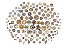 FINE COLLECTION OF DIVISION I BUTTONS