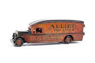 ARCADE WHITE CAST IRON MOVING VAN WITH REGIONAL