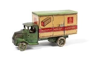 ARCADE CAST IRON MACK TRUCK UNEEDA NATIONAL BISCUIT