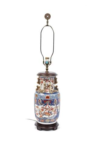 CHINESE VASE (ELECTRIFIED INTO LAMP)