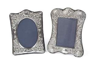 TWO KEYFORD STERLING PICTURE FRAMES