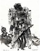 Model was a Red One is a Watercolour by Georg Baselitz
