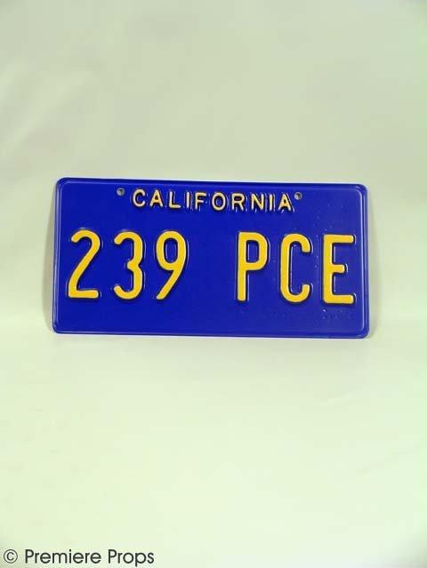 110: DREAMGIRLS - Curtis' (Jamie Foxx) CA License Plate