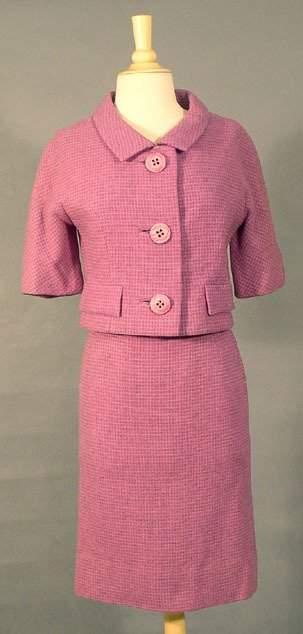 Monte Sano & Pruzan Orchid Wool 1960's Suit