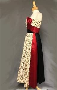 Stunning Oleg Cassini Strapless Evening Gown 50s 60s