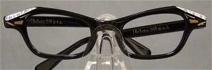 UNWORN Victory Optical Black Eyeglass Frames Rhinestone