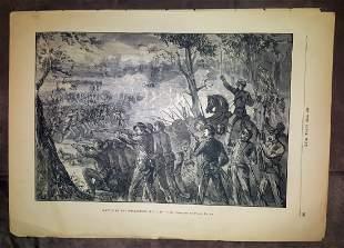 Civil War Engraving Battle of the Wilderness