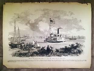 Civil War Engraving View of New Berne, N.C.