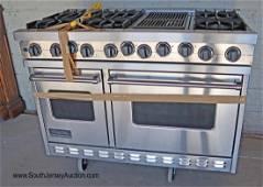 "Viking Profession 48"" range double oven"