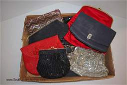 9 ladies clutch hand bags, beaded, jeweled, other