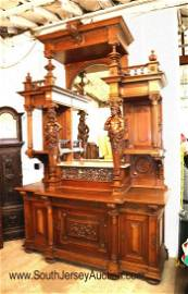 Monumental Antique Marble Top Buffet - manner of Horner