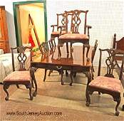 9 Piece Henredon Furniture Dining Room Set with (2)