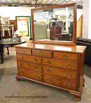 Quality Kindel solid cherry 9 drawer low chest with
