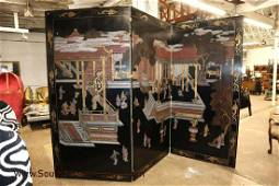 Maitland Smith 3 panel Asian decorated room divider