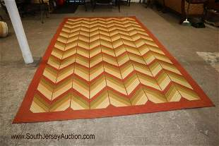 Tropical style hand woven rug 8' x 13'